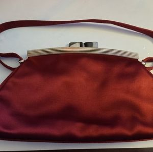 A. Testoni Red Evening Shoulder Bag